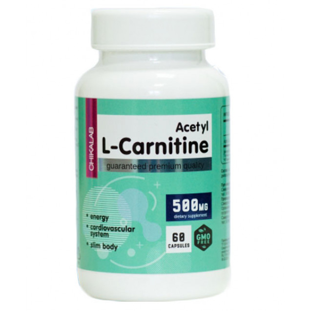 Chikalab Acetyl L-carnitine 500 мг 60 капсул