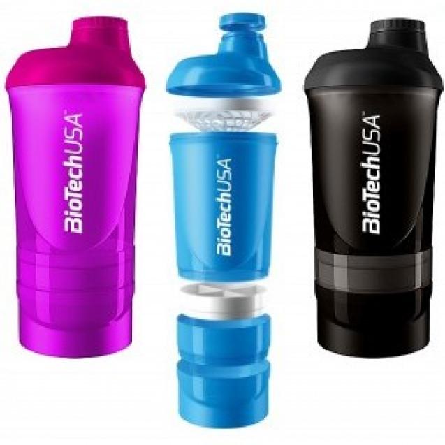 Шейкер Shaker BioTech USA Wave 600 ml (+200ml + 150 ml)