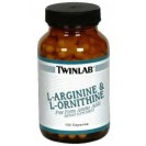 L-Arginine & L-Ornithine аминокислоты, производитель Twinlab, упаковка банка 100 капсул