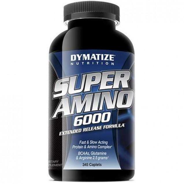 Super Amino 6000 (Супер Амино 6000) аминокислоты, производитель Dymatize, упаковка банка 345 капс