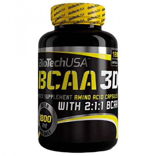BCAA 3D BioTech USA 180 капсул