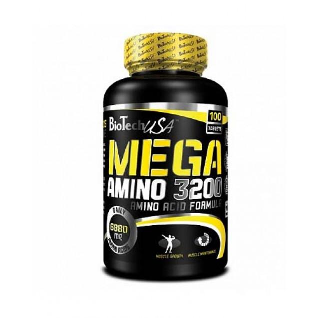 Mega Amino 3200 BioTech USA 100 таблеток