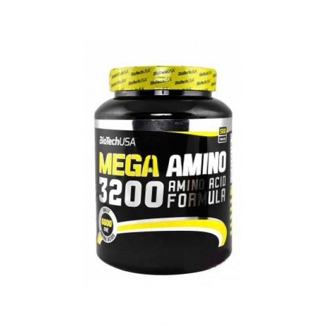 Mega Amino 3200 BioTech USA 500 таблеток