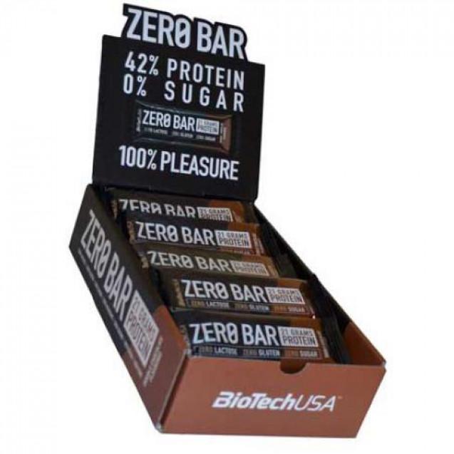 Батончик Zero Bar BioTech USA 20х50 г