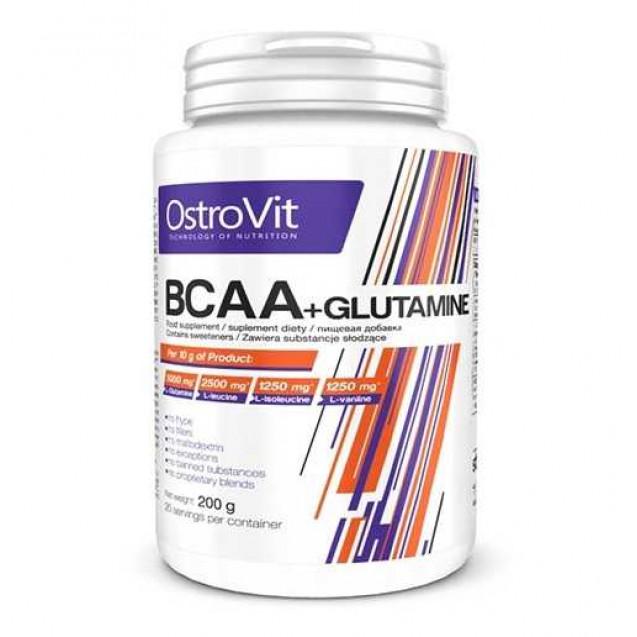 BCAA + L-Glutamine, Ostrovit, 200 гр