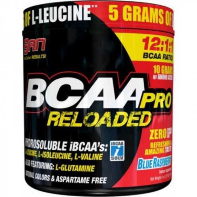 BCAA-Pro Reloaded, Бсаа-про релоедид, спортивное питание, производитель SAN, упаковка банка 456г.