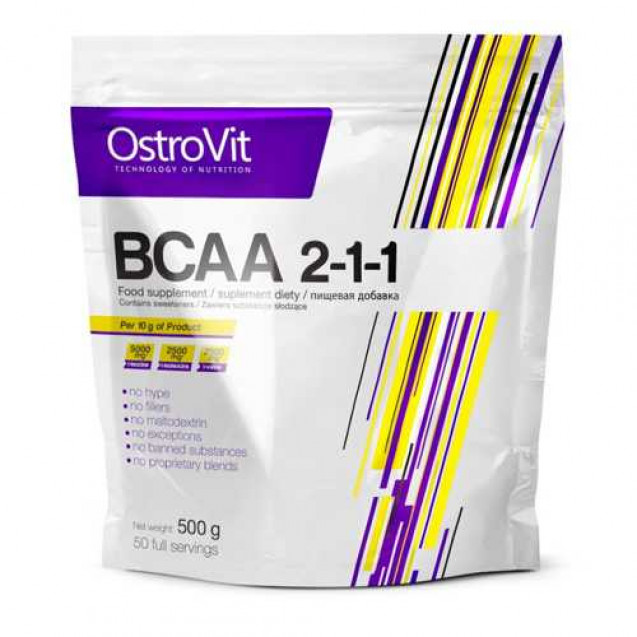 BCAA 2-1-1, Ostrovit, 500 гр