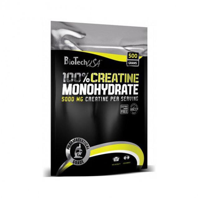 100% Creatine Monohydrate BioTech USA 500 г пакет