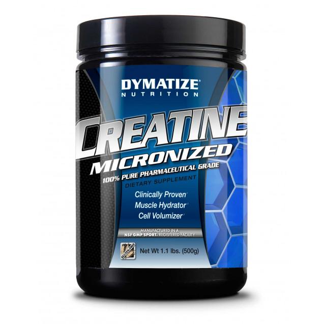 Creatine Micronized, производитель Dymatize, упаковка банка 500 гр