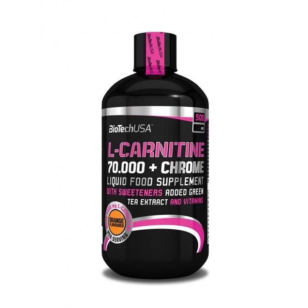 L-Carnitine 70 000 + Chrome BioTech USA 500 мл