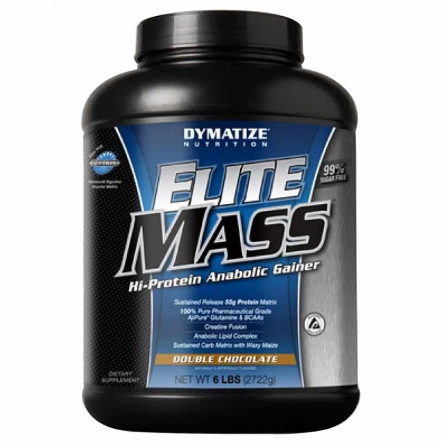 Elite Mass Gainer 6 lb гейнер, производитель Dymatize, упаковка банка 2722 грамма.