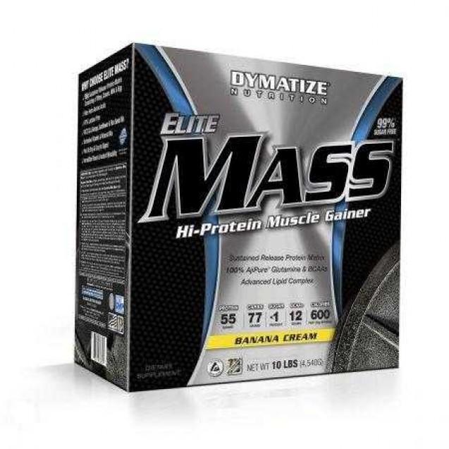 Elite Mass Gainer 6 lb гейнер, производитель Dymatize, упаковка банка 4540 грамма.