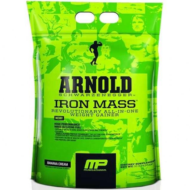 Arnold Iron Mass 8 lb gainer, Арнольд Айрон Мас гейнер, производитель MusclePharm, упаковка пакет 3620 грамм