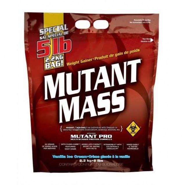 Mutant Mass 5lb, гейнер, производитель Fit Foods, упаковка банка 2200гр.