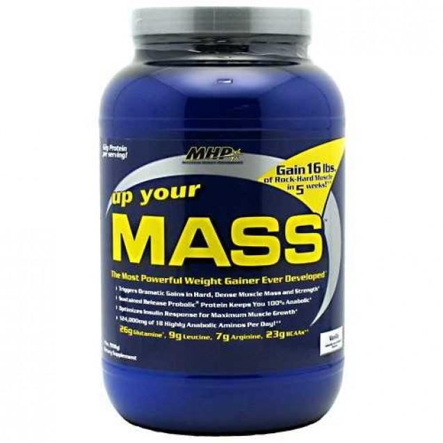 Up Your Mass, ап ер масс гейнер, производитель MHP, упаковка банка 908 гр.