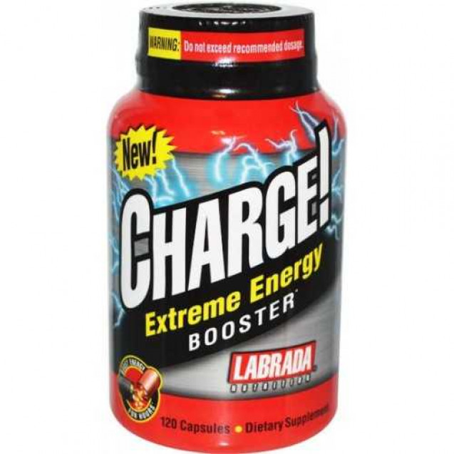 Charge Extreme Energy Booster, Labrada Nutrition, 120 caps