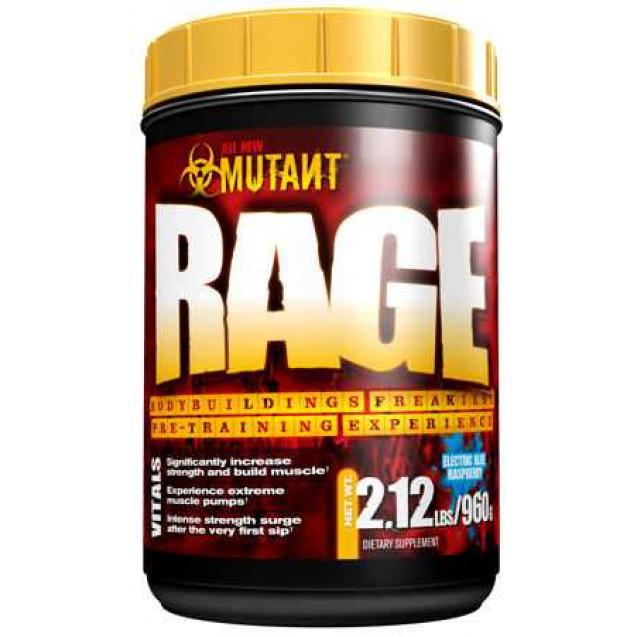 Mutant Rage, нитробустеры, производитель Fit Foods, упаковка банка 960 гр.