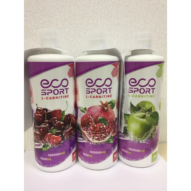 L-Carnitine 1000 мл, жиросжигатель, производитель EcoSport 150 000 мг.