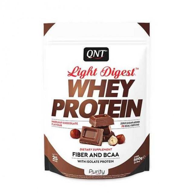 Light Digest Whey protein протеин, производитель QNT, упаковка пакет 500 гр