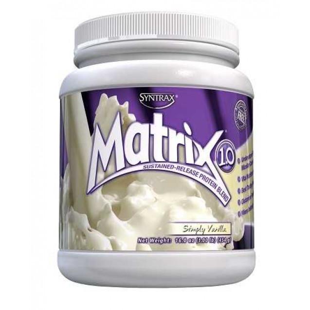 Matrix 1.0, матрикс протеин, производитель Syntrax, упаковка банка, вес 454 гр