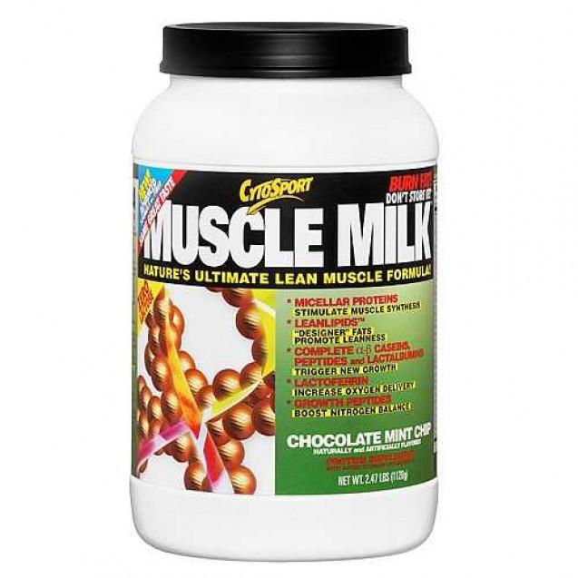 Muscle Milk 2,47 lb протеин, производитель CytoSport, упаковка банка 1120 гр.
