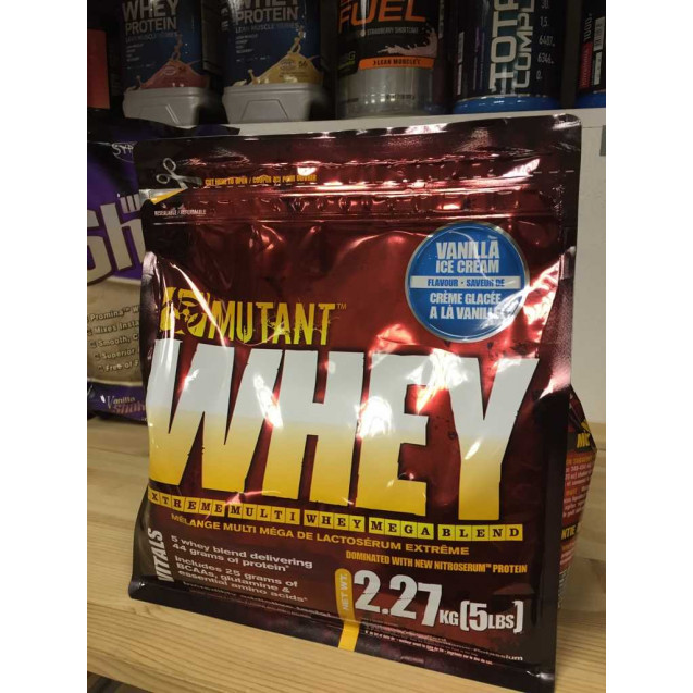 Mutant Whey 5lb, протеин мутант вей, производитель Fit Foods, упаковка банка 2270 гр