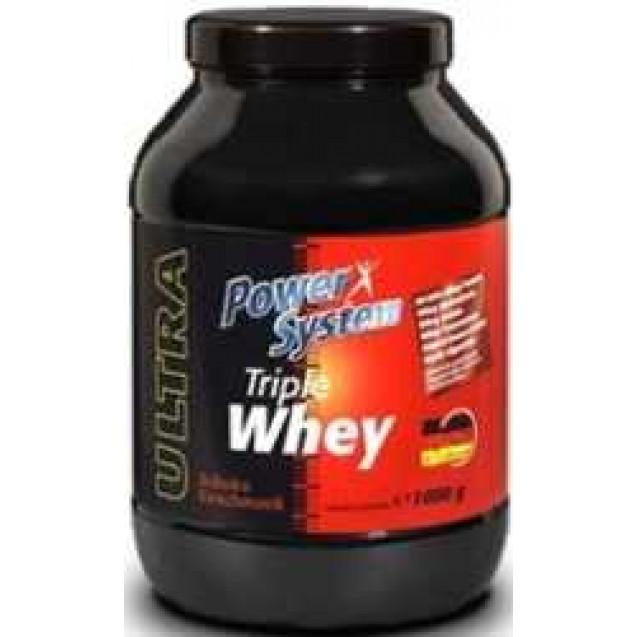 Triple Whey Протеин, производитель Power System, упаковка банка 1000р