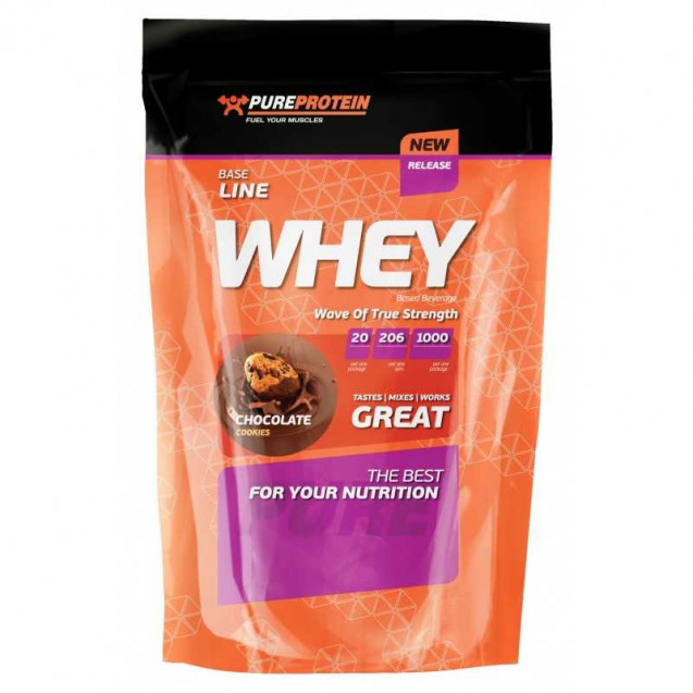 Whey Protein, вей пюре протеин, раздел спортивное питание, производитель Pure Protein, упаковка банка 1000гр