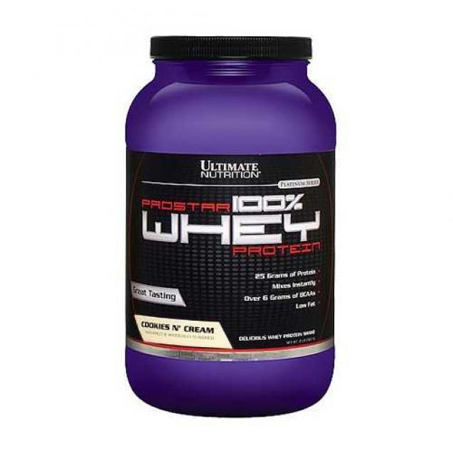 Whey Prostar протеин, производитель Ultimate Nutrition, упаковка банка 907 гр.