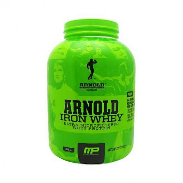 Arnold Iron Whey protein, Арнольд Айрон Вей протеин, раздел спортивное питание, производитель MusclePharm, упаковка банка 2270 гр.