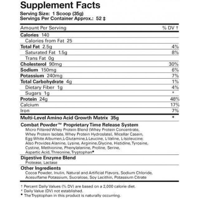 Combat 10lb protein, Комбат протеин, спортивное питание, производитель MusclePharm, упаковка пакет 4540 грамм.