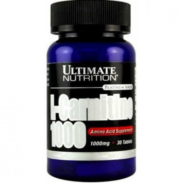 L-Carnitine 1000 mg, Ultimate Nutrition, 30 tabl