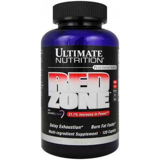 Red Zone, жиросжигатель, производитель Ultimate Nutrition, упаковка банка 120 капсул