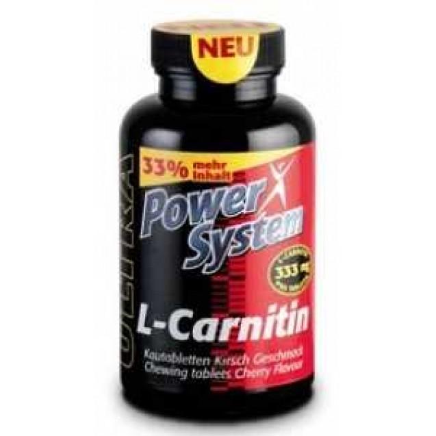 L-Карнитин, произыодитель Power System, упаковка банка 80 жевательных таблеток (вишня) 333мг