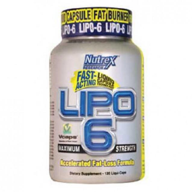 Lipo-6 жиросжигатель, производитель Nutrex, упаковка банка 120 капсул.