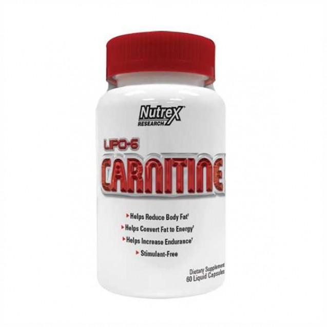 Lipo 6 Carnitine Липо 6 Карнитин 60 к, раздел спортивное питание, жиросжигатель, производитель Nutrex, упаковка банка 60 капсул.