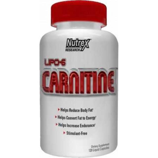 Lipo 6 Carnitine, производитель Nutrex, упковка банка 120 капсул
