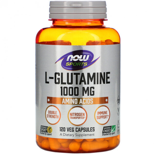 Now Sports L-Glutamine 120 капсул