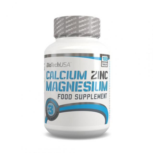 Calcium Zinc Magnesium BioTech USA 100 таблеток