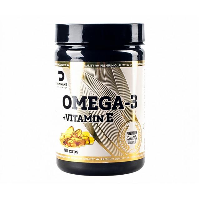 Dominant Omega 3 + Vitamin E 1000mg, 90 caps