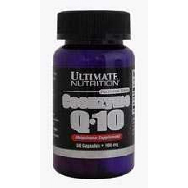 Коэнзим Q10 энзимы, производитель Ultimate Nutrition, упаковка банка, 30 капсул