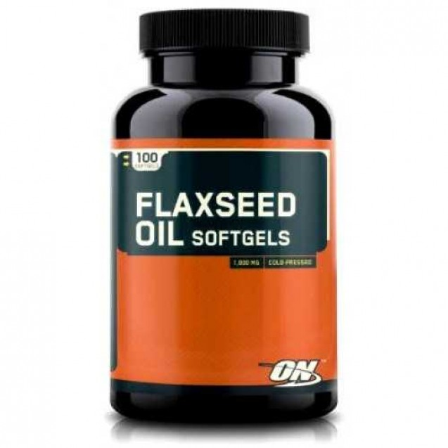 Optimum Nutrition Flaxseed Oil Softgels 100 капсул