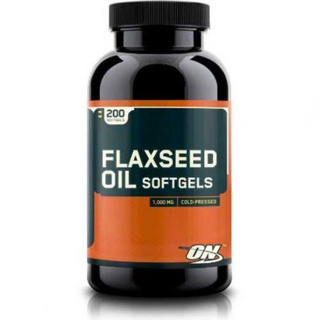 Optimum Nutrition Flaxseed Oil Softgels 200 капсул