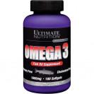 Omega 3 - Омега 3 Softgels витамины, производитель Ultimate Nutrition, упаковка банка 180 капсул.