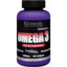 Omega 3 Softgels (Омега 3 Софтгель Ультимэйт нутришин ), витамины, приводите Ultimate Nutrition, упаковка банка 180 таб.