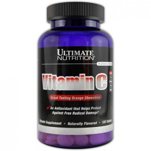 Vitamin C 500mg Chewable, Ultimate Nutrition, 120 tabl